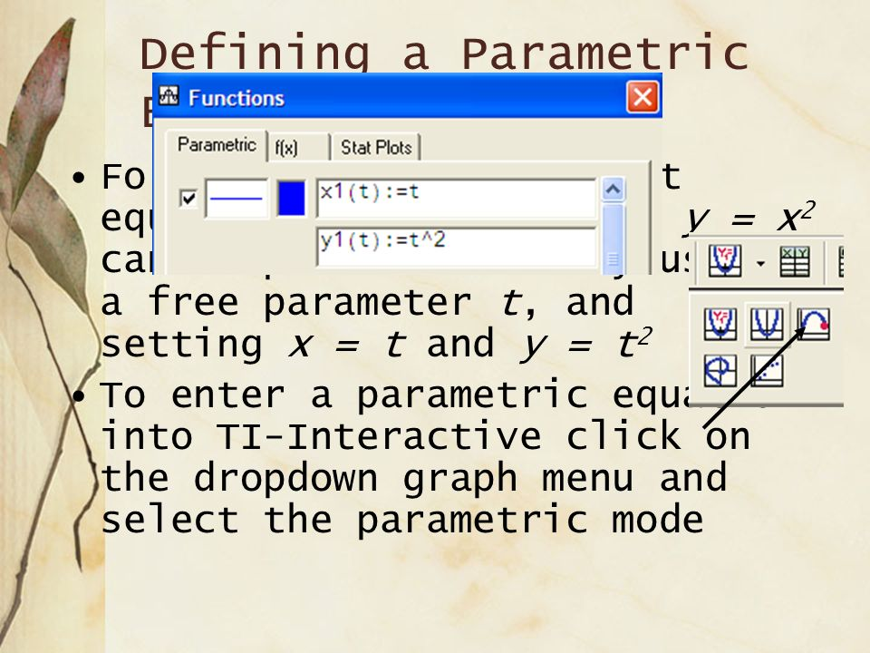 Defining a Parametric Equation