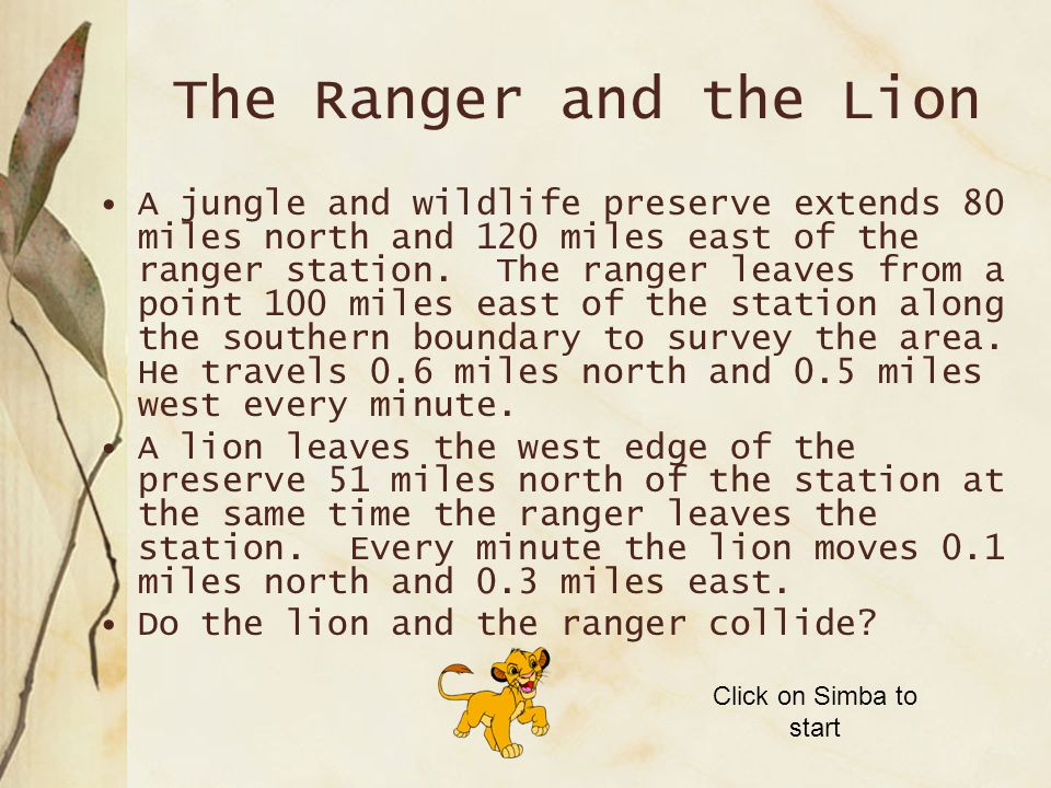 The Ranger and the Lion
