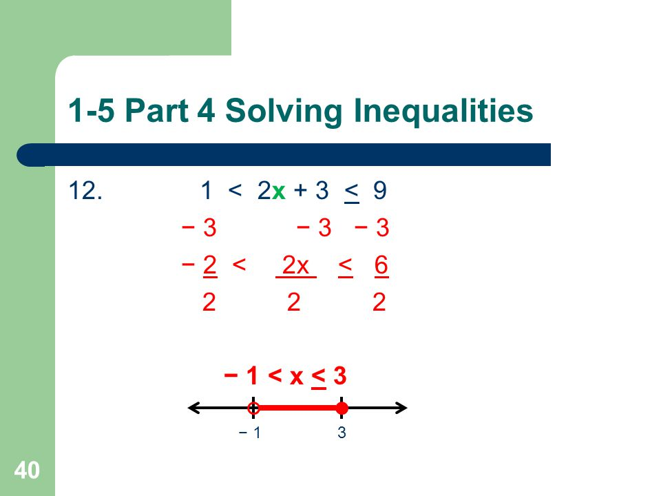 1-5 Part 4 Solving Inequalities