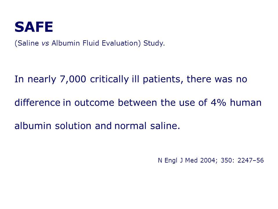 SAFE (Saline vs Albumin Fluid Evaluation) Study.