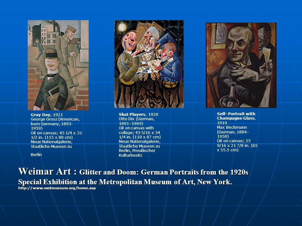 Weimar Art : Glitter and Doom: German Portraits from the 1920s