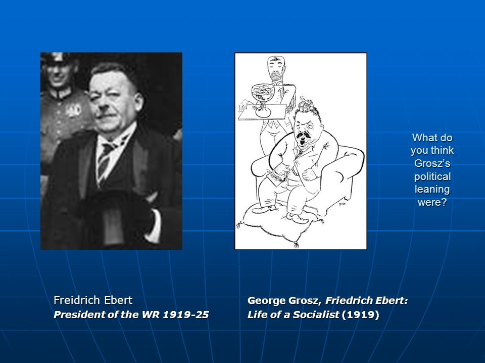 What do you think Grosz's political leaning were