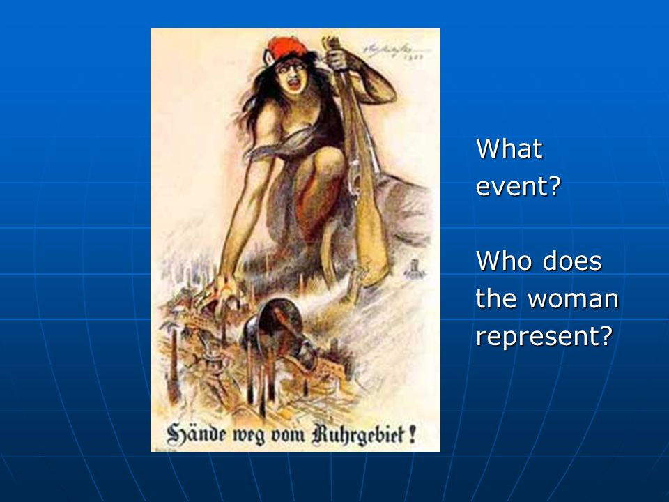 What event Who does the woman represent