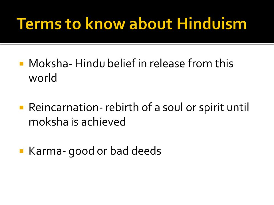Terms to know about Hinduism