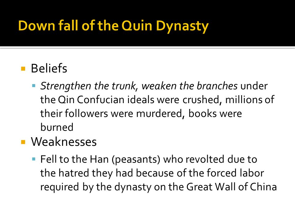 Down fall of the Quin Dynasty
