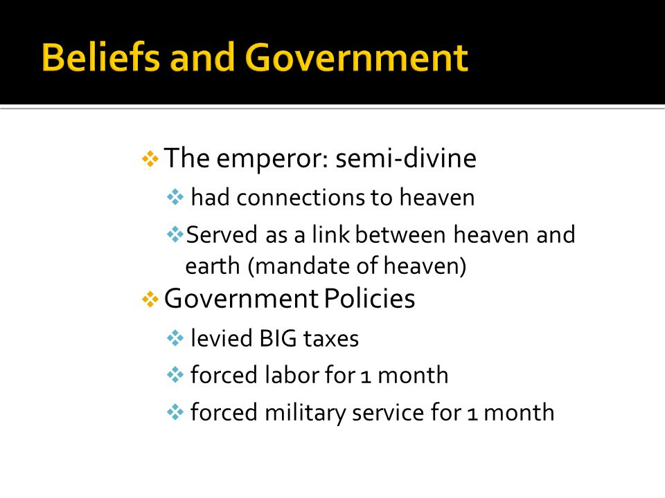 Beliefs and Government