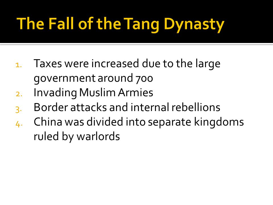 The Fall of the Tang Dynasty