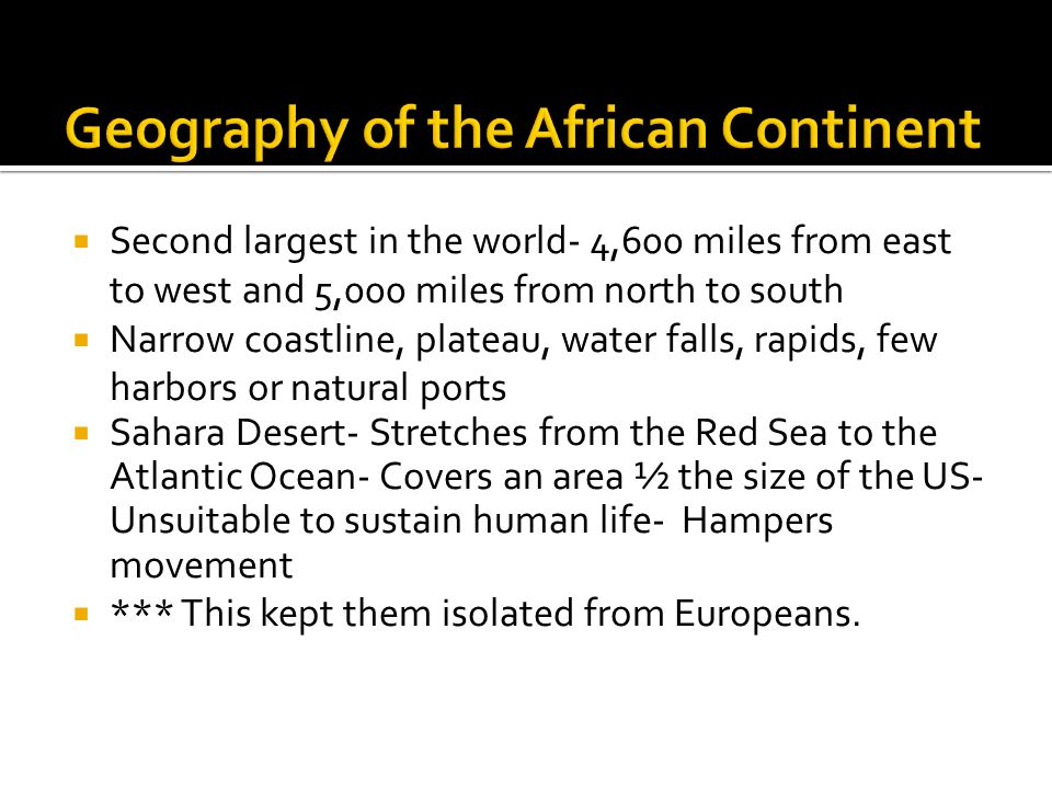 Geography of the African Continent