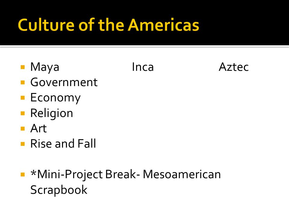 Culture of the Americas