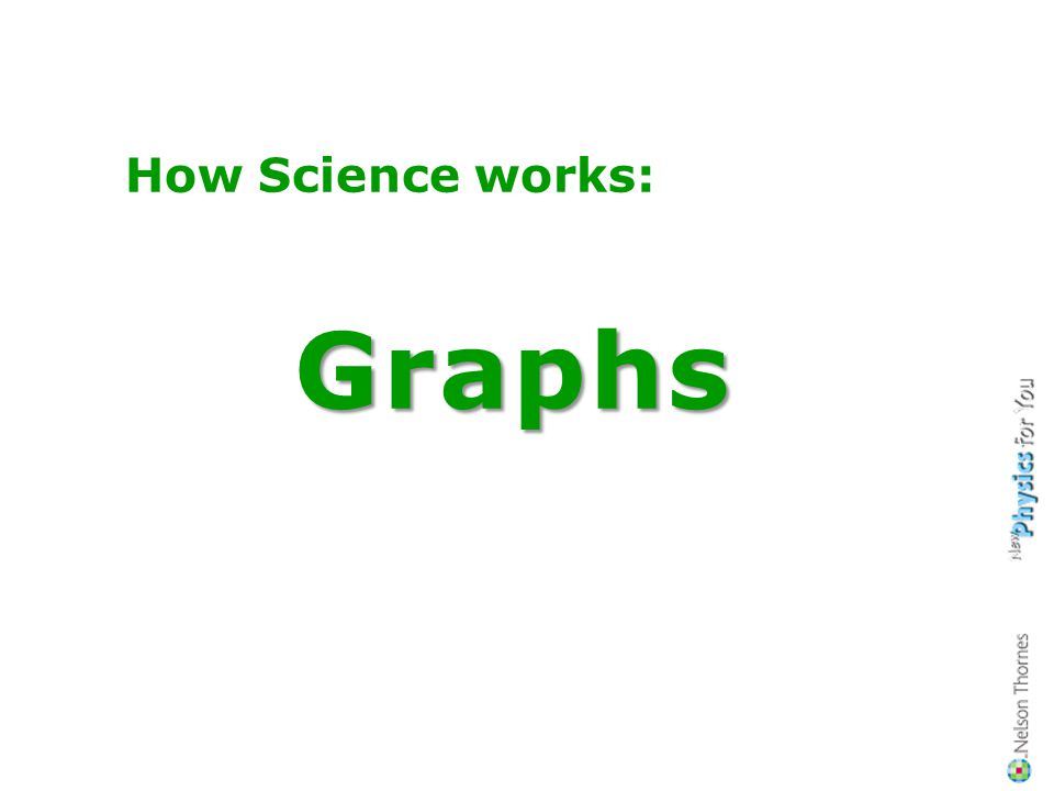 How Science works: Graphs