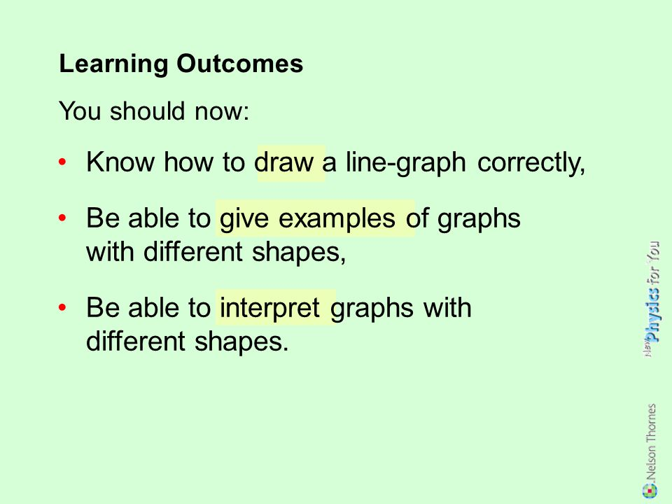 Know how to draw a line-graph correctly,