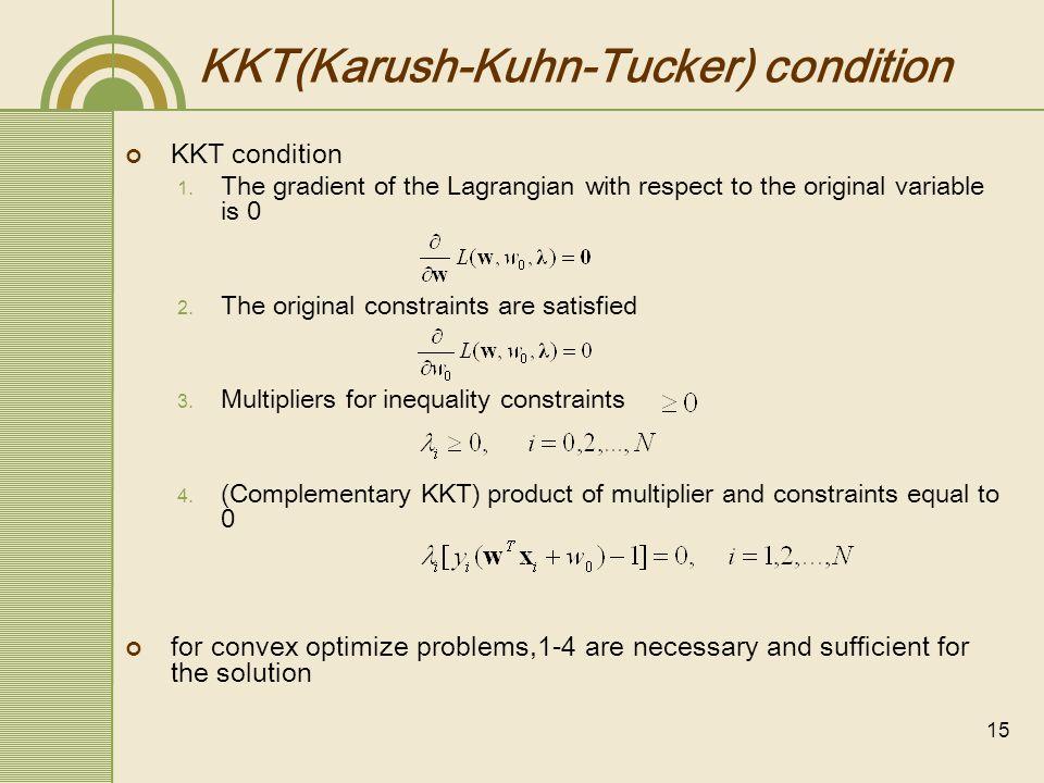 KKT(Karush-Kuhn-Tucker) condition