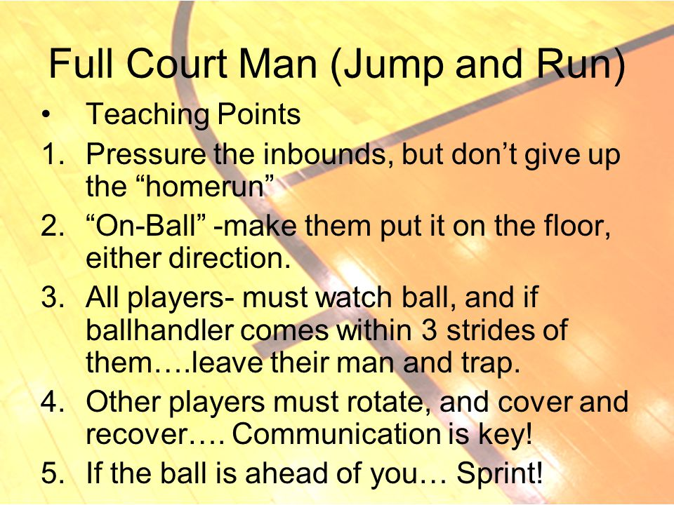 Full Court Man (Jump and Run)