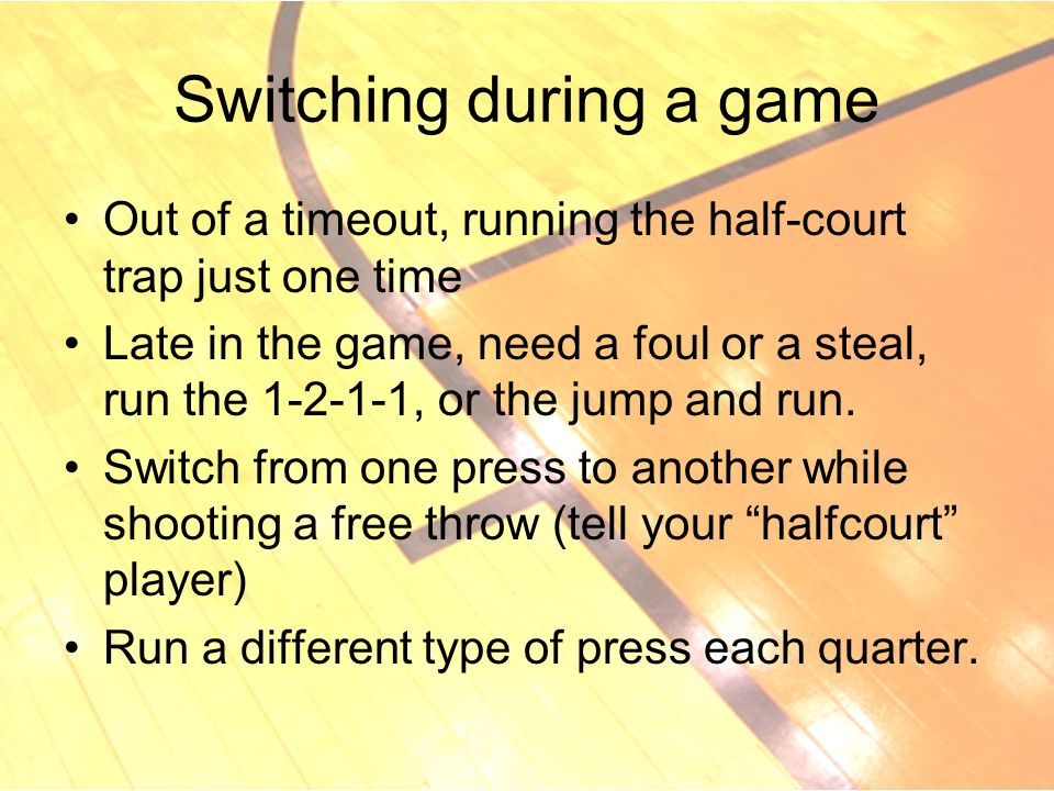 Switching during a game