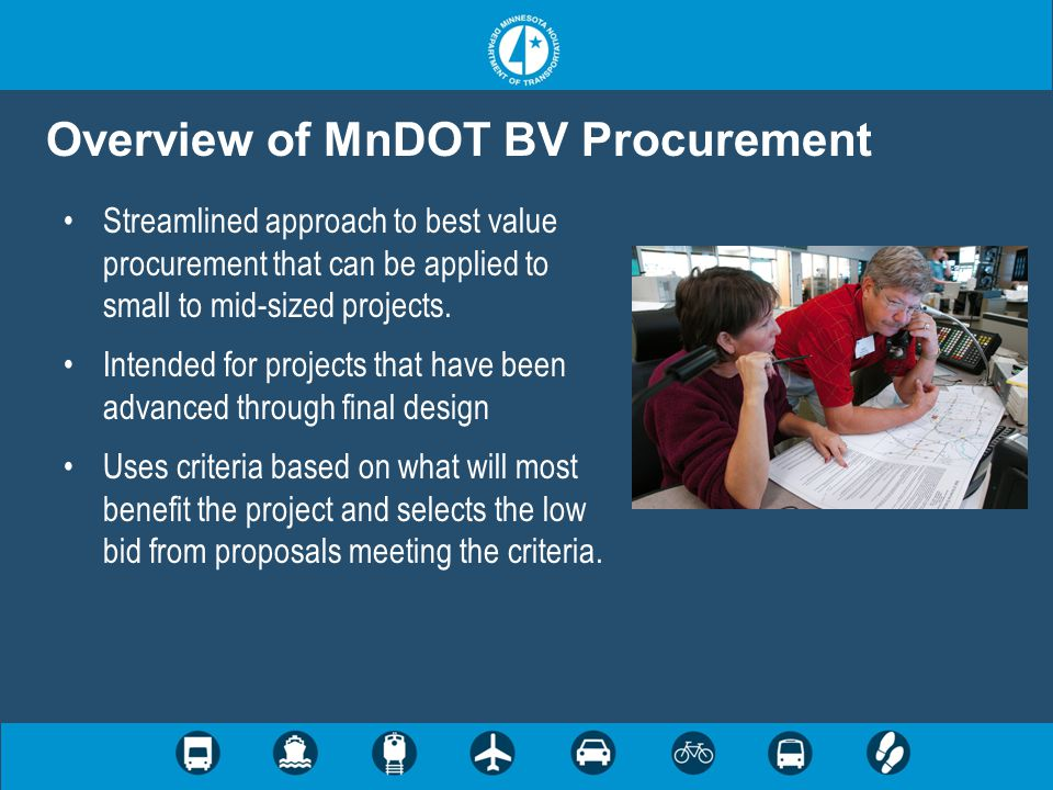 Overview of MnDOT BV Procurement