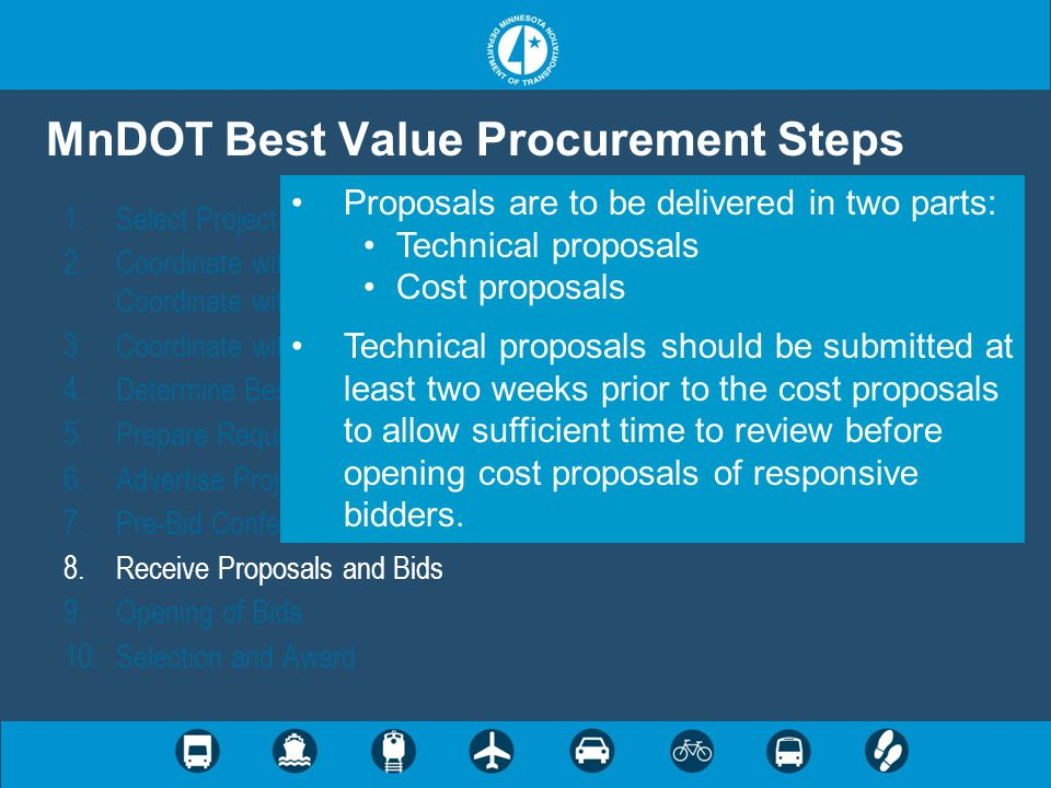 MnDOT Best Value Procurement Steps