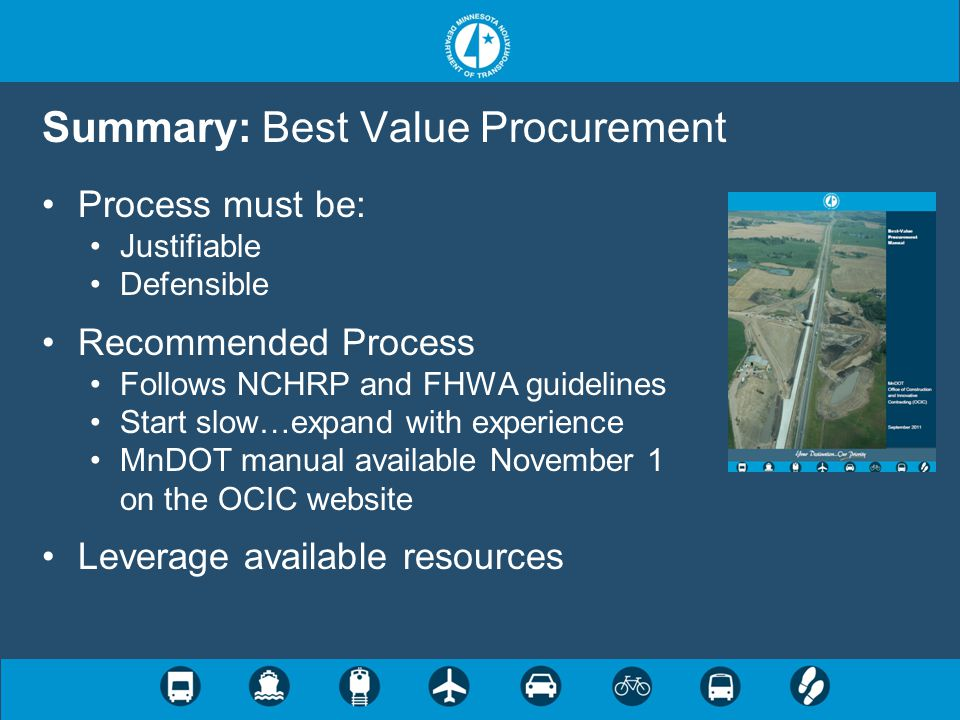 Summary: Best Value Procurement