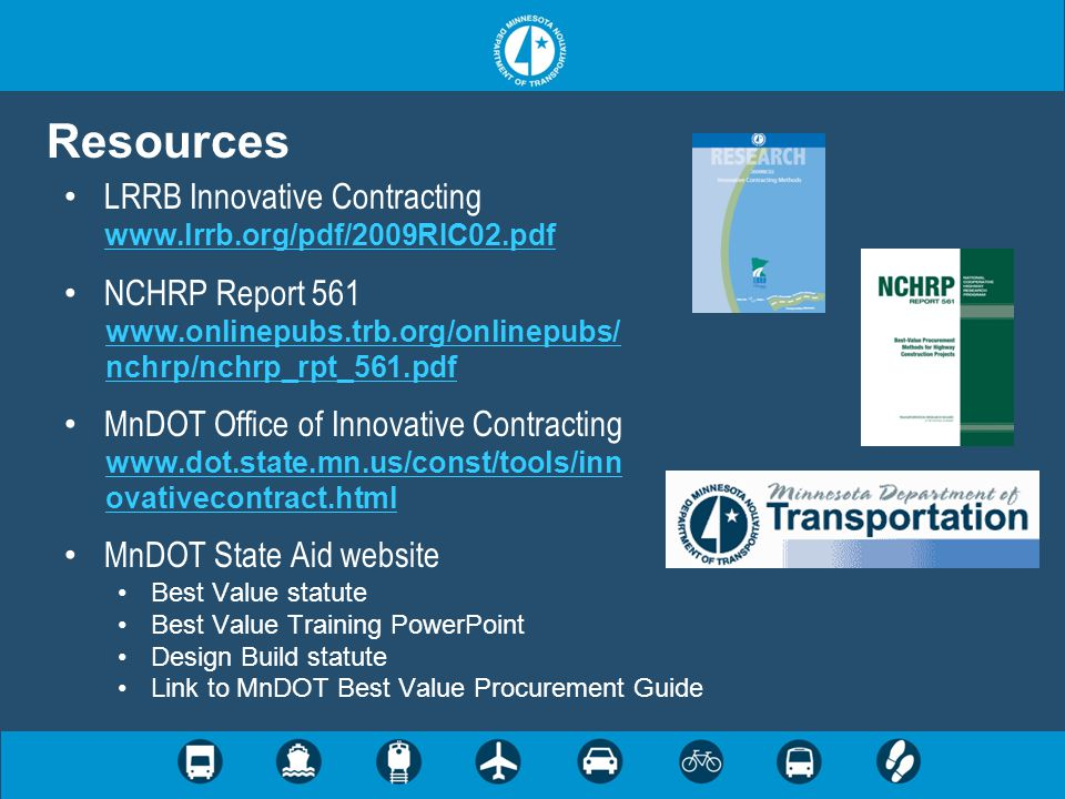 Resources LRRB Innovative Contracting www.lrrb.org/pdf/2009RIC02.pdf