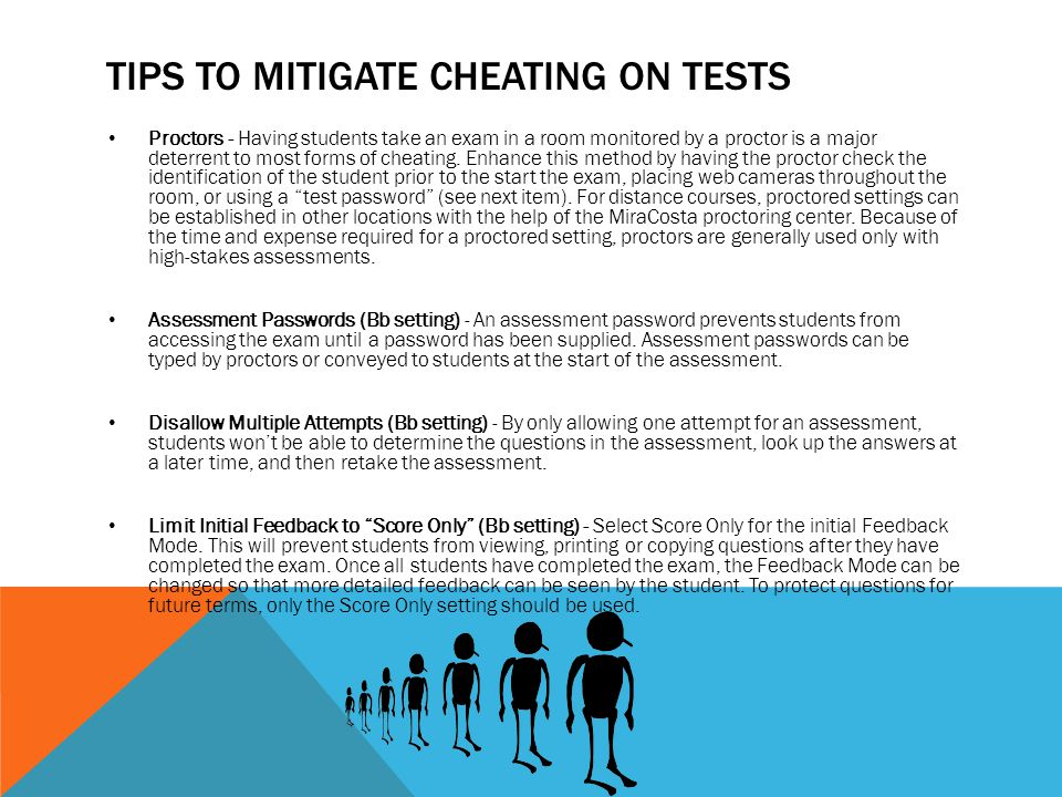 Tips to mitigate cheating on Tests