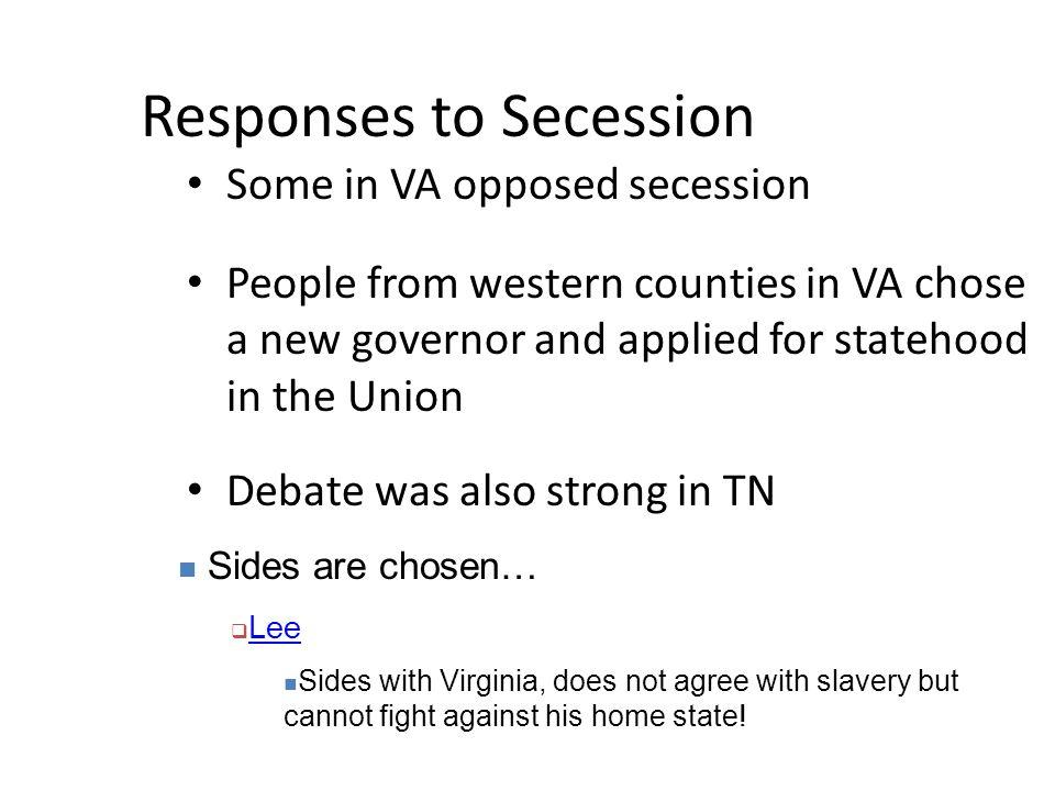Responses to Secession
