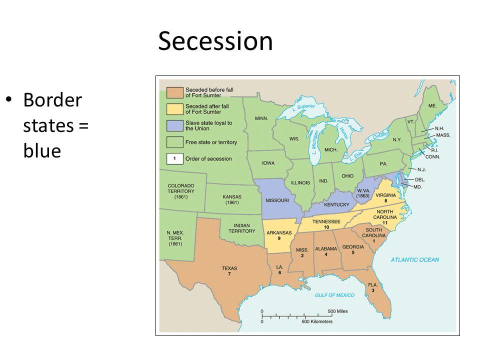 Secession Border states = blue