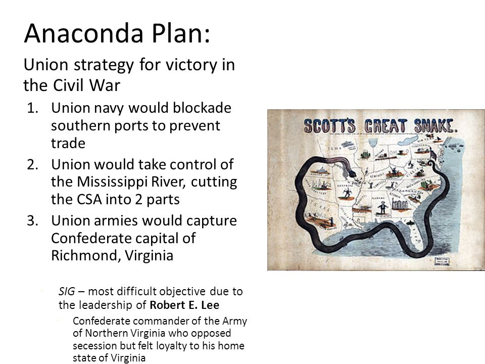 Anaconda Plan: Union strategy for victory in the Civil War