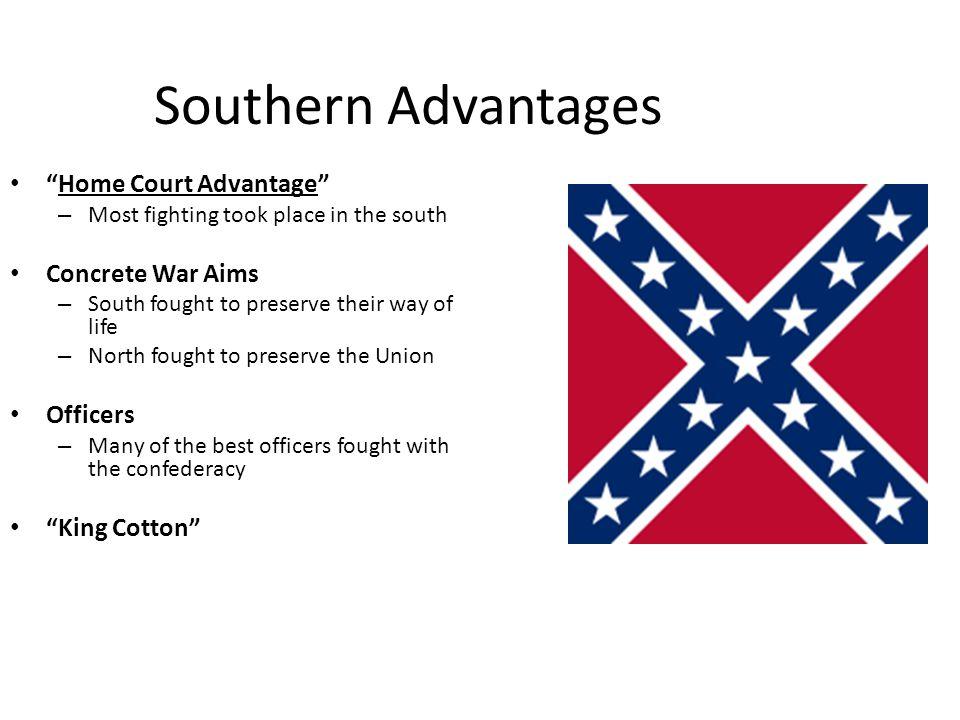 Southern Advantages Home Court Advantage Concrete War Aims Officers