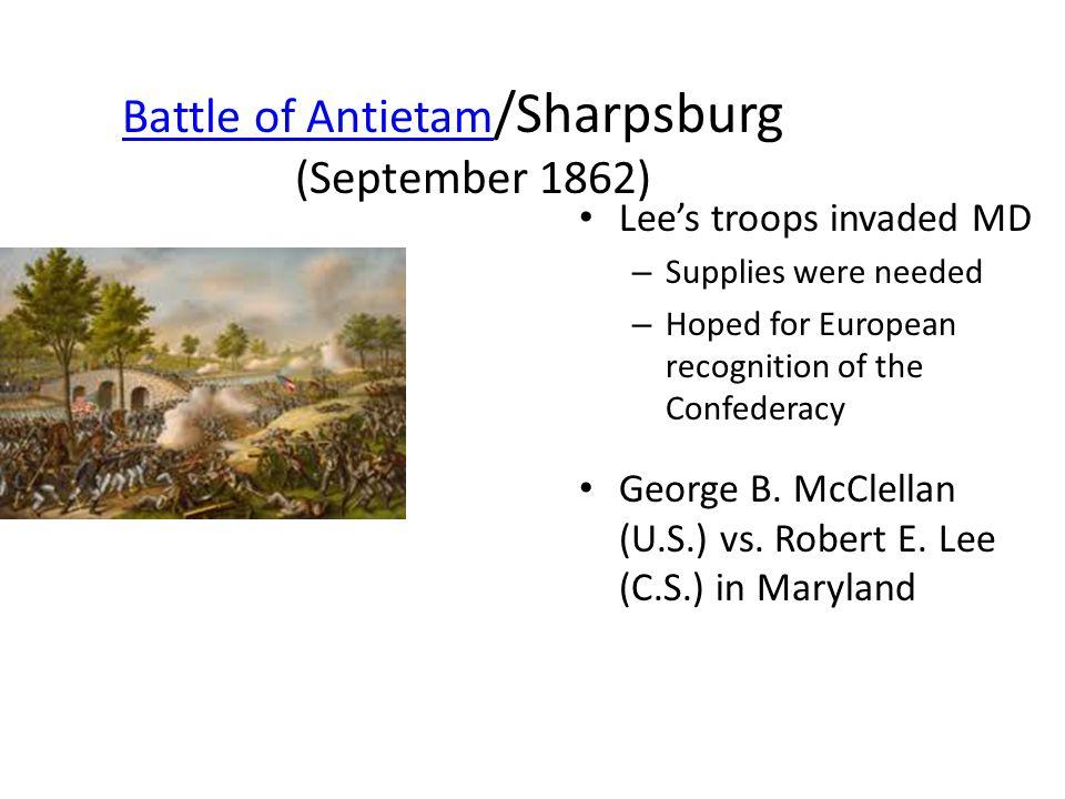 Battle of Antietam/Sharpsburg (September 1862)