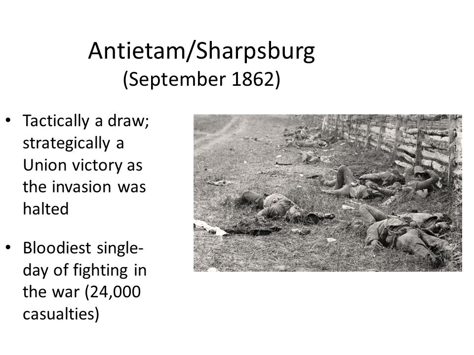 Antietam/Sharpsburg (September 1862)