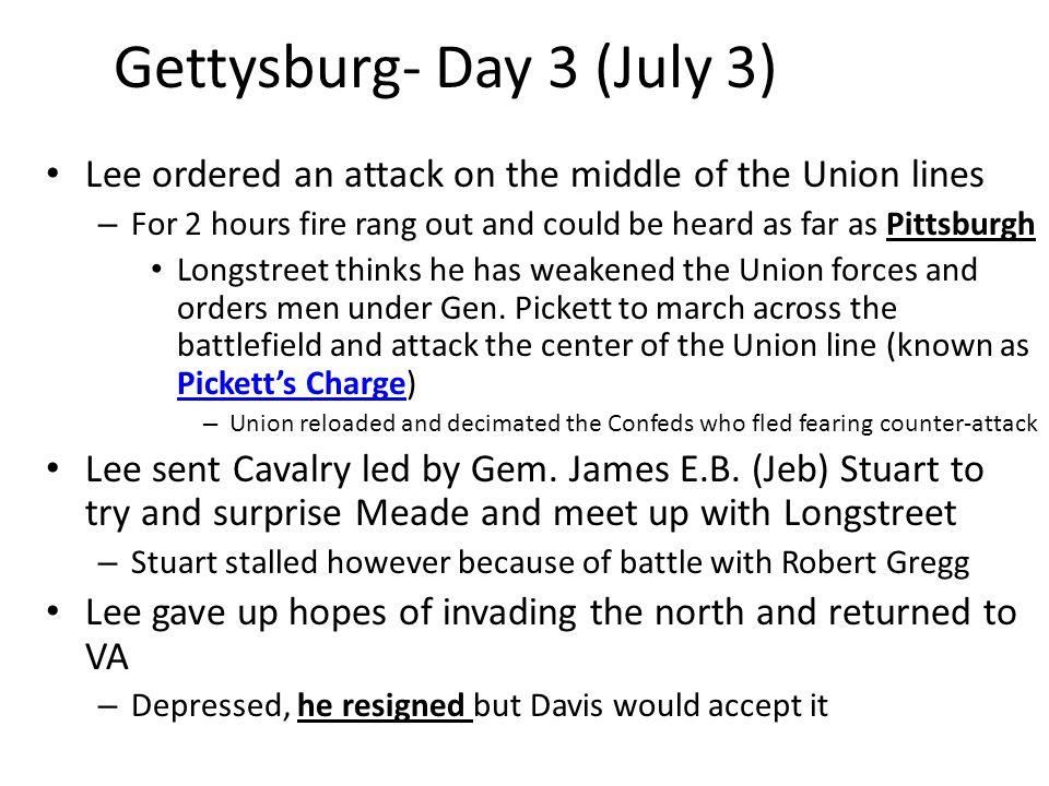 Gettysburg- Day 3 (July 3)