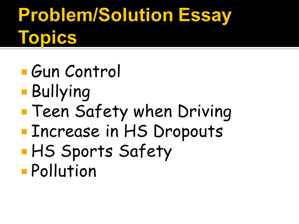 Problem Solution Essay Prompts