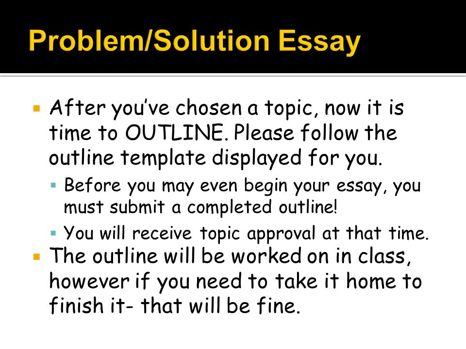 examples of problem solution essays