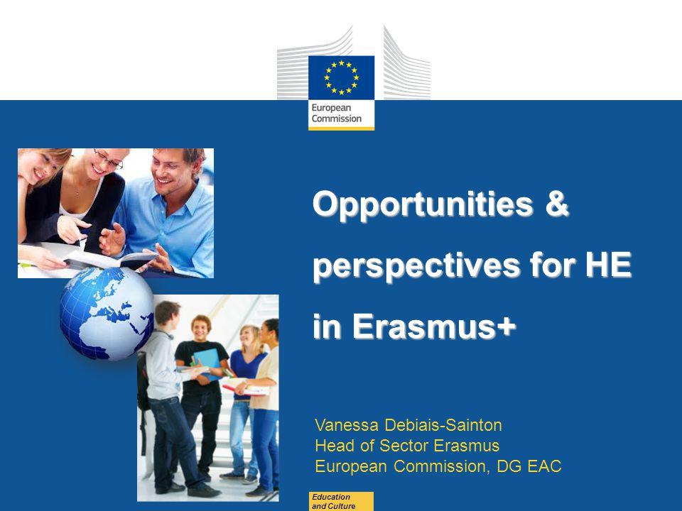Opportunities & perspectives for HE in Erasmus+