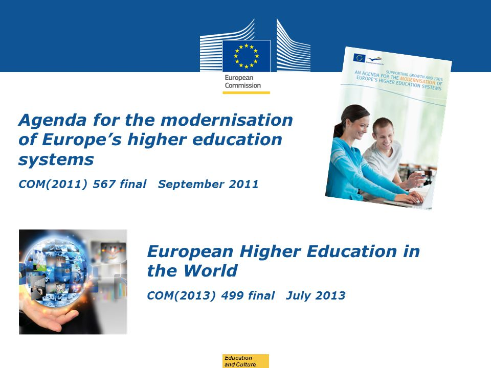 Agenda for the modernisation of Europe's higher education systems