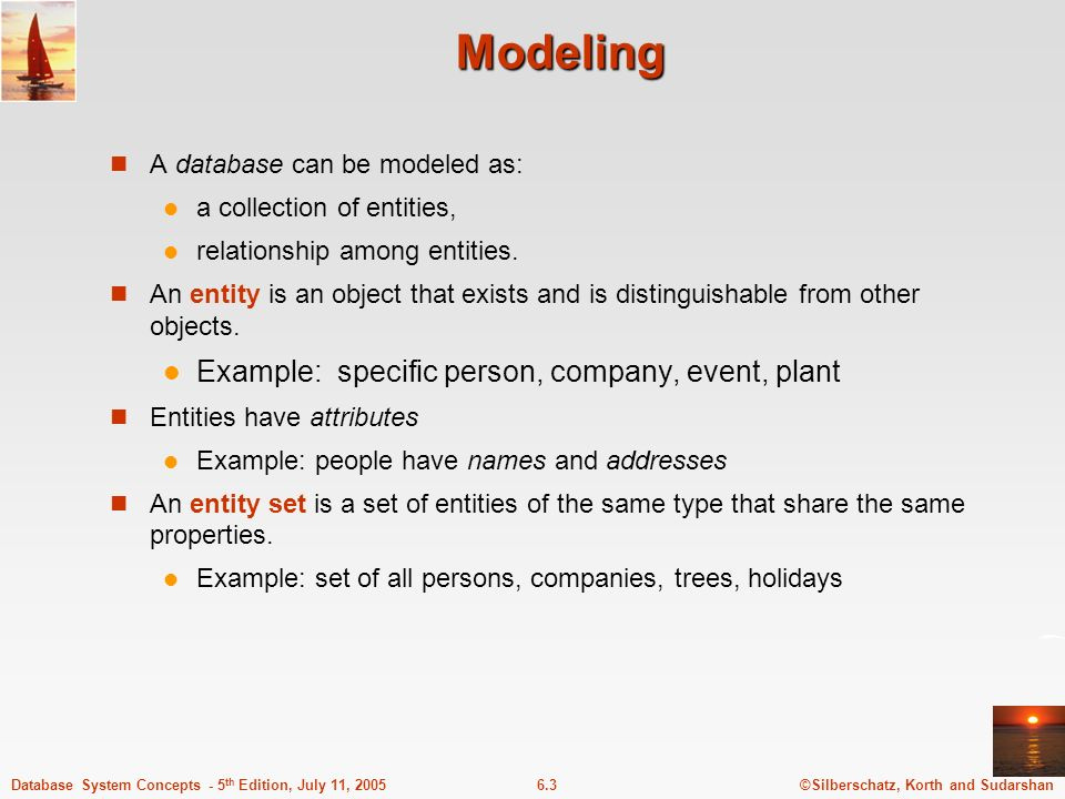 Modeling Example: specific person, company, event, plant