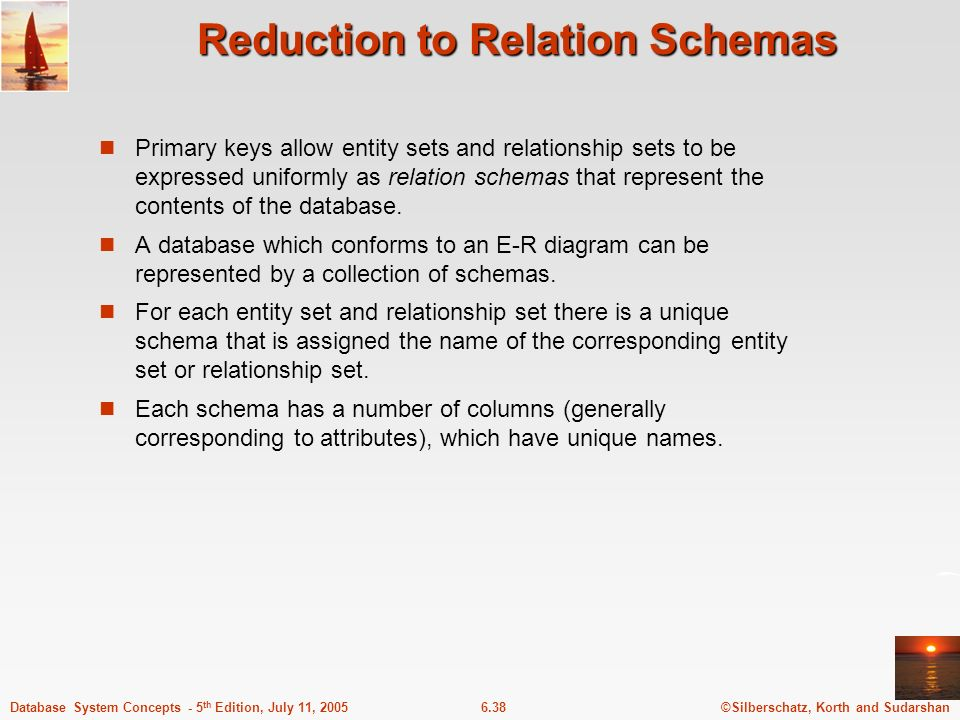 Reduction to Relation Schemas