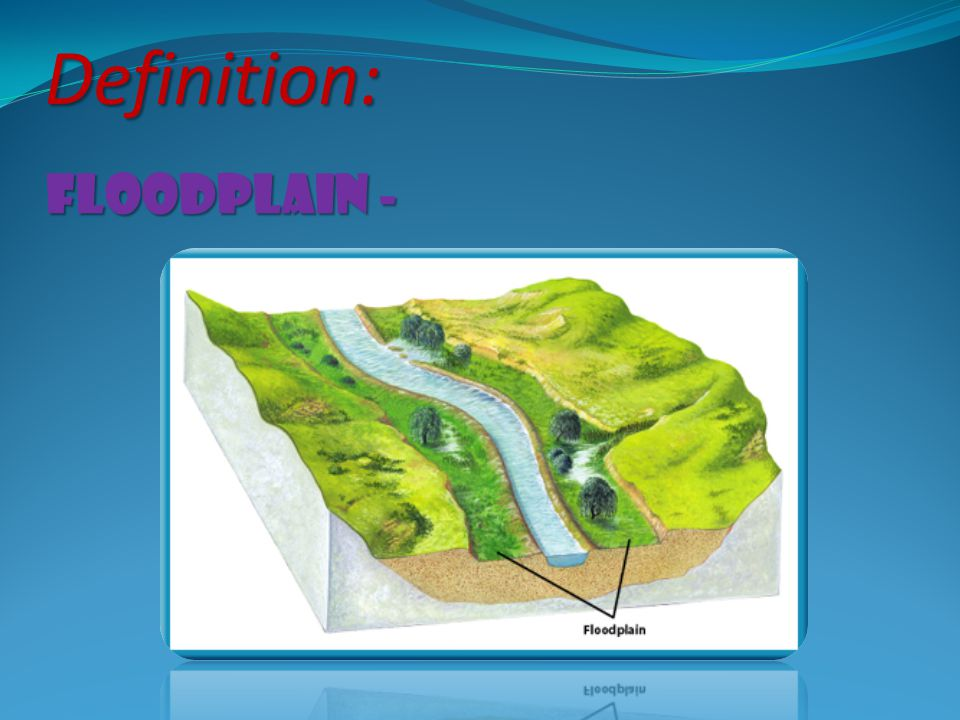 Definition: floodplain -