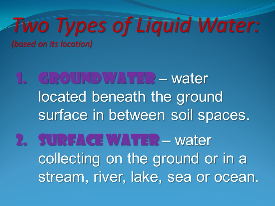 Two Types of Liquid Water: