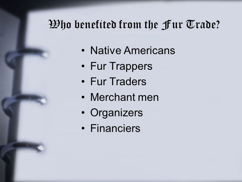 Who benefited from the Fur Trade