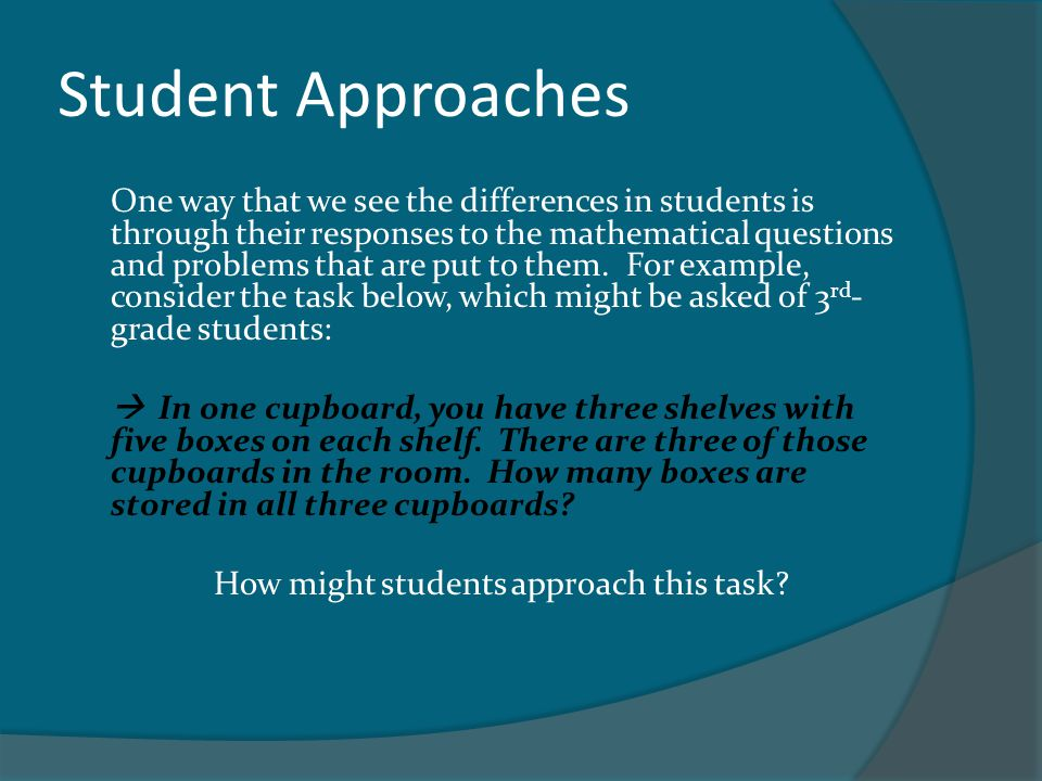 How might students approach this task