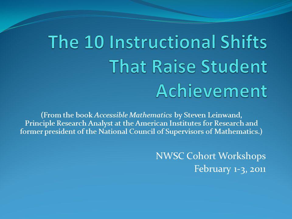 The 10 Instructional Shifts That Raise Student Achievement