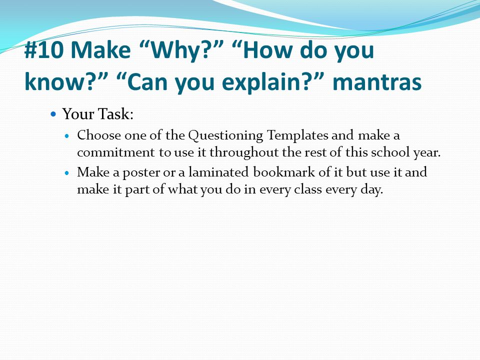 #10 Make Why How do you know Can you explain mantras