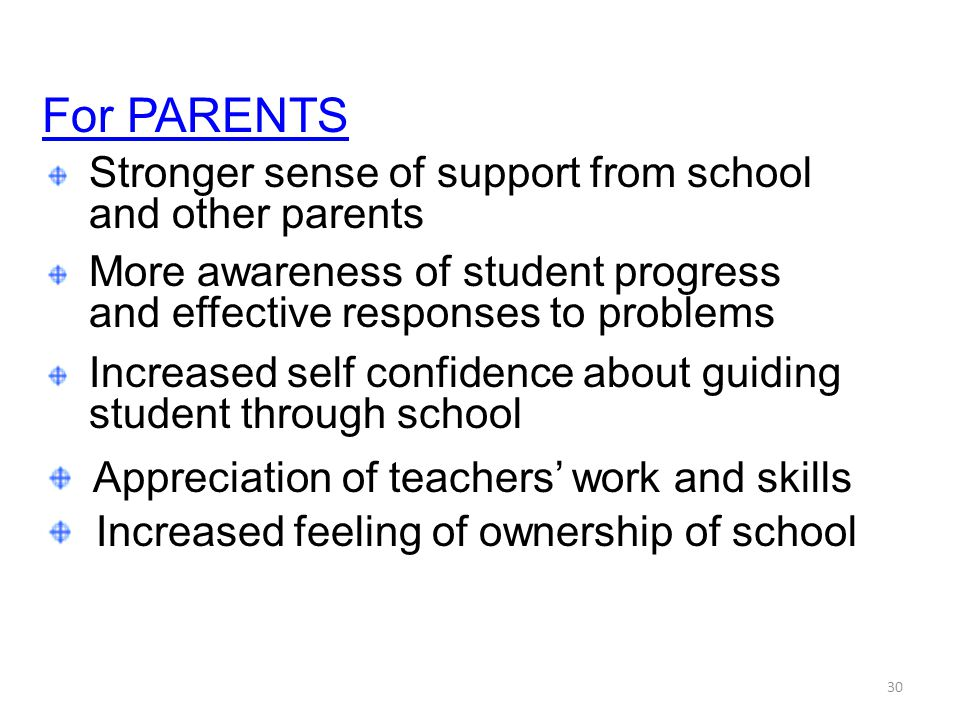For PARENTS and other parents and effective responses to problems