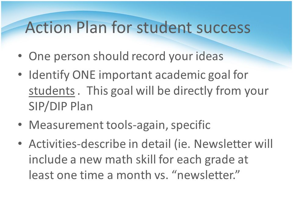 Action Plan for student success