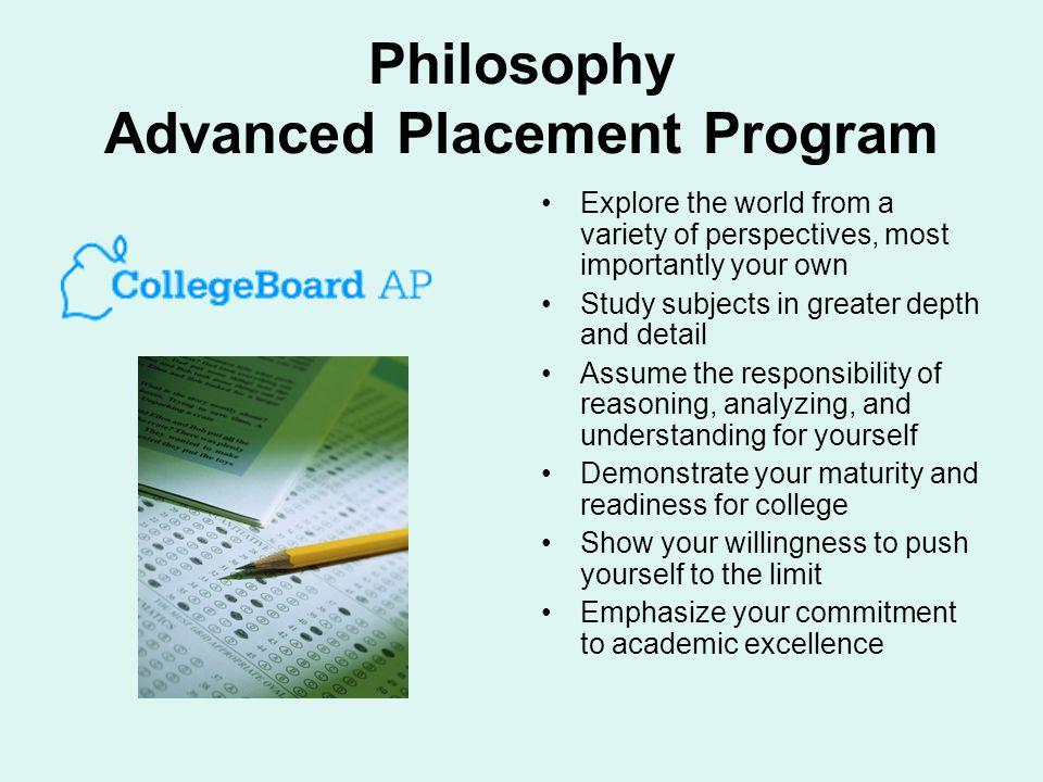Philosophy Advanced Placement Program