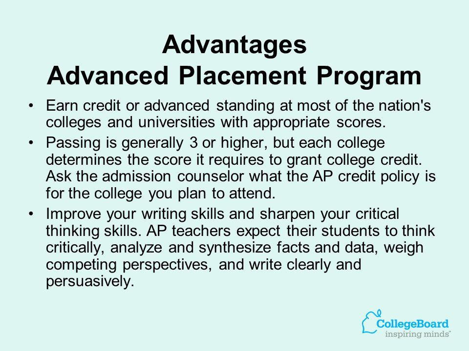 Advantages Advanced Placement Program
