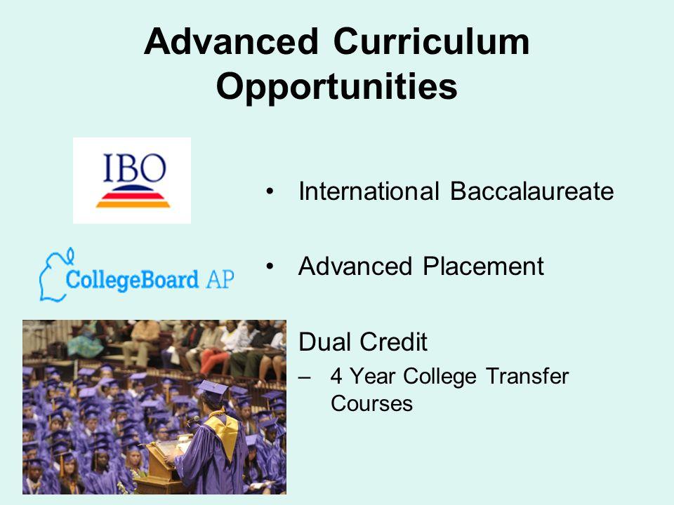 Advanced Curriculum Opportunities
