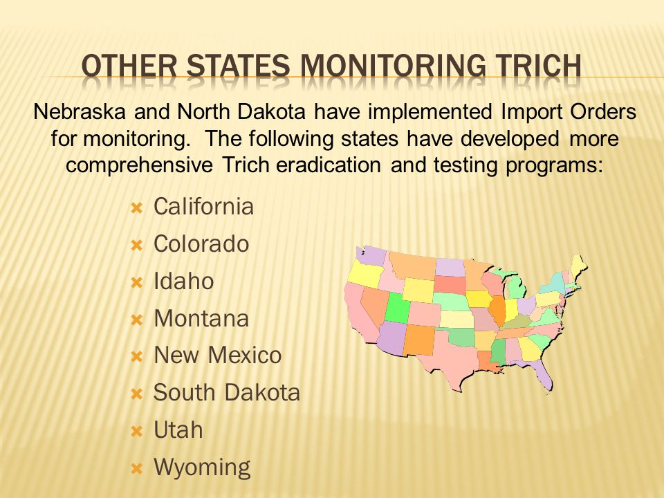 Other states monitoring trich