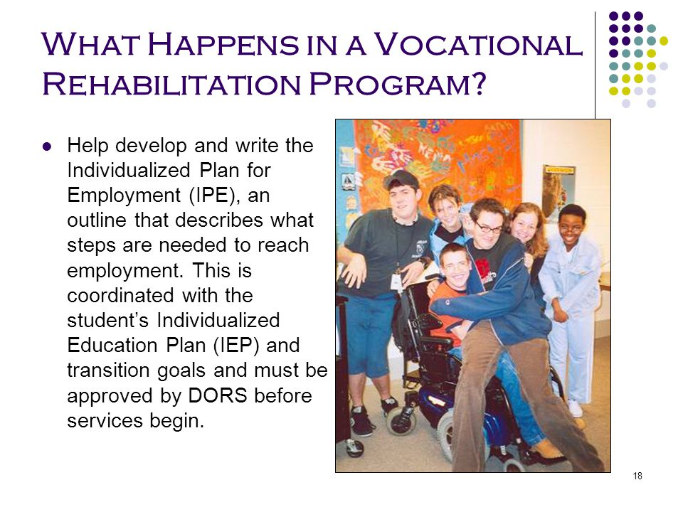 What Happens in a Vocational Rehabilitation Program
