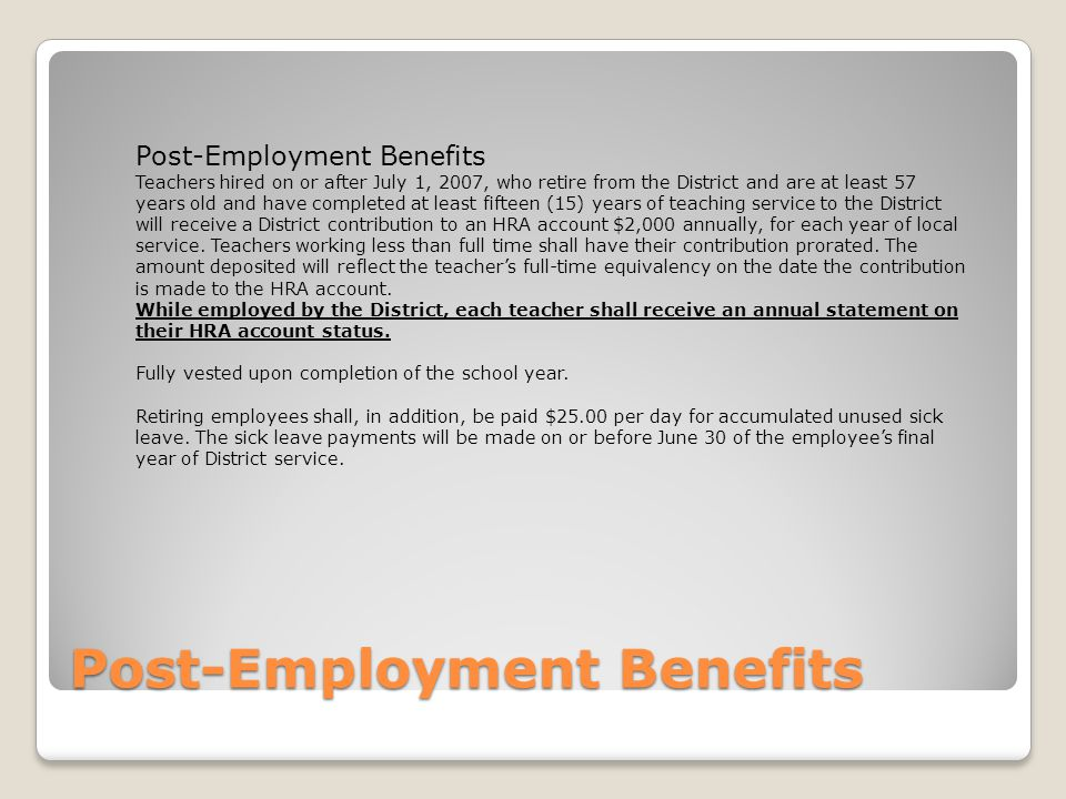 Post-Employment Benefits